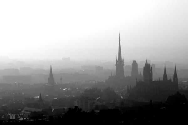clYk cityscape spiers paysage Rouen clochers 100