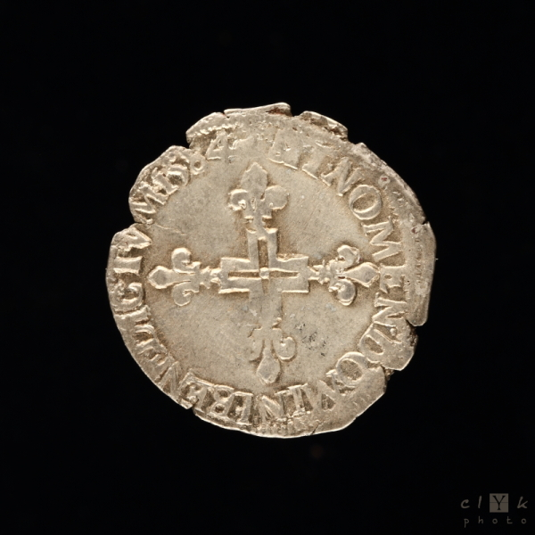 clYk macro silver coin pièce argent henri iii