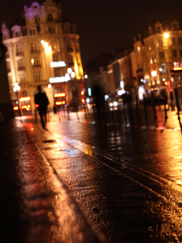 clyk street night pavement rain rue nuit pavé