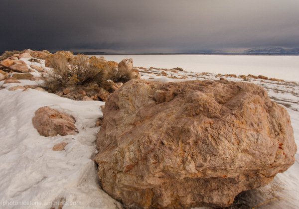 Snow Storm, Salt Lake, Utah, White Rocks
