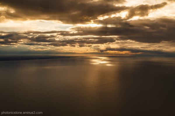 View over the inlet, Cook Inlet, Anchorage, Alaska