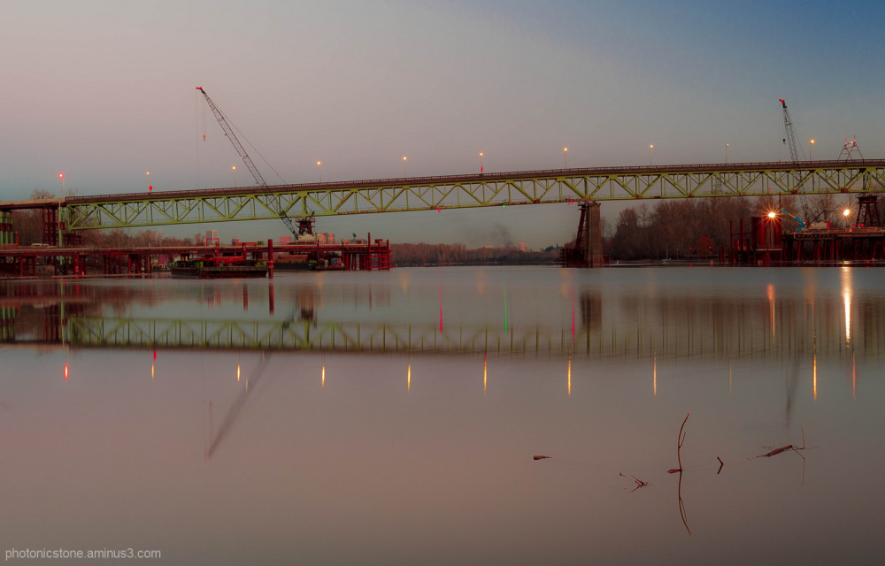 Old Selwood Bridge repairs, .. sunrise