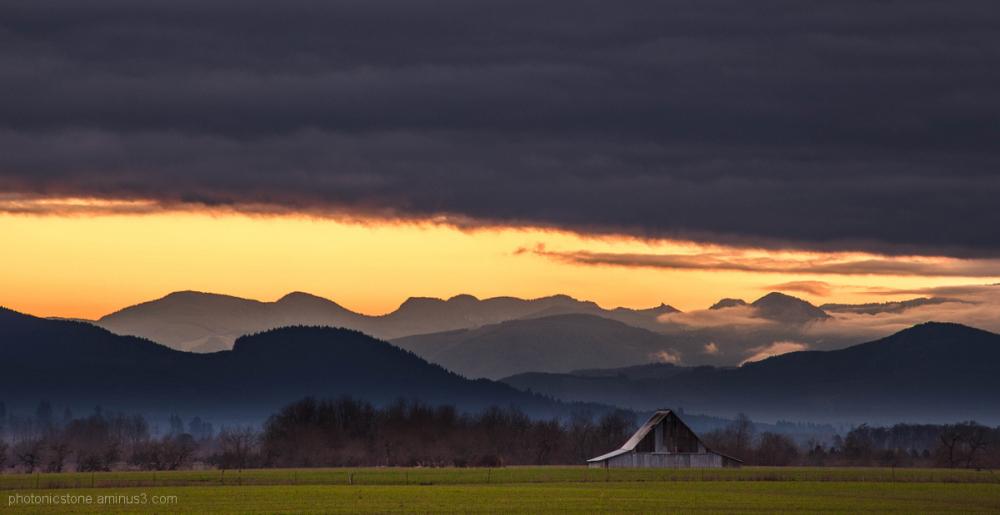 Pastoral Central Oregon Sunrise