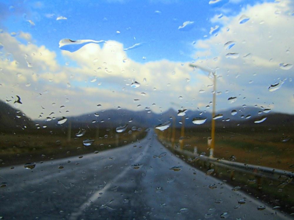 rainy road _ Iran