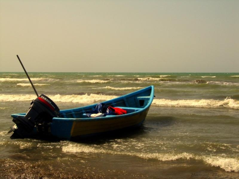 دریای خزر. ساحل فرح آباد -ساری