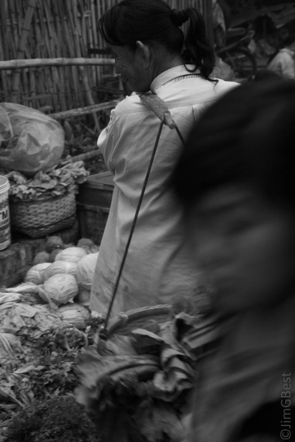 A local women shopping in a Market in Laos
