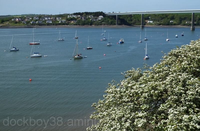 The Cleddau Bridge .