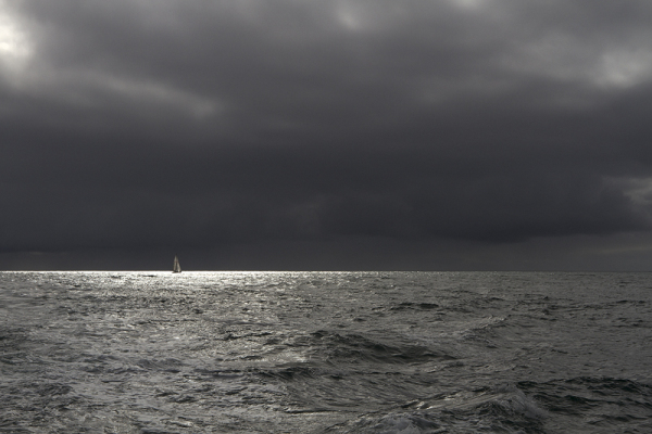 Yacht returning from Cape Clear