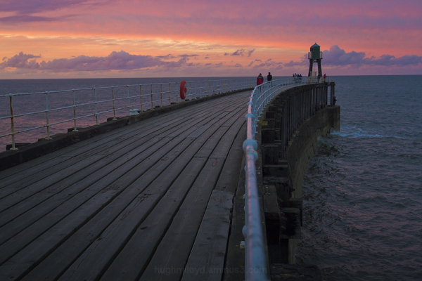 End of Whitby Pier at Sunset