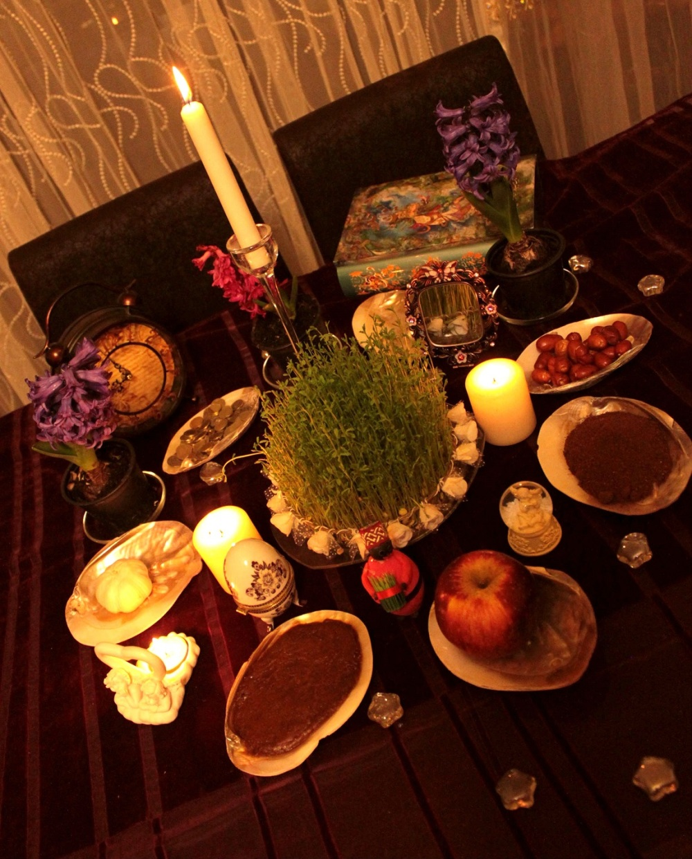 Our Nowruz table(Iranian new year) :D