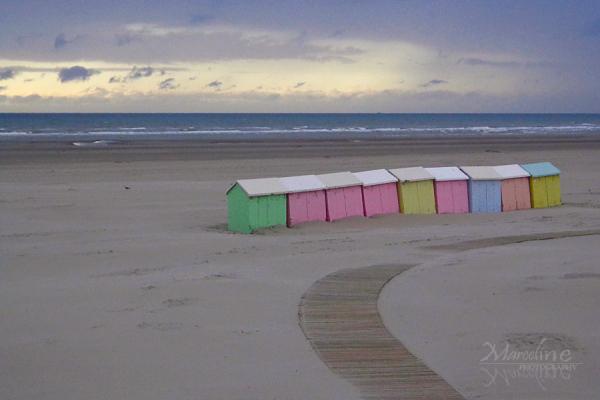 plage de berck et ses cabines