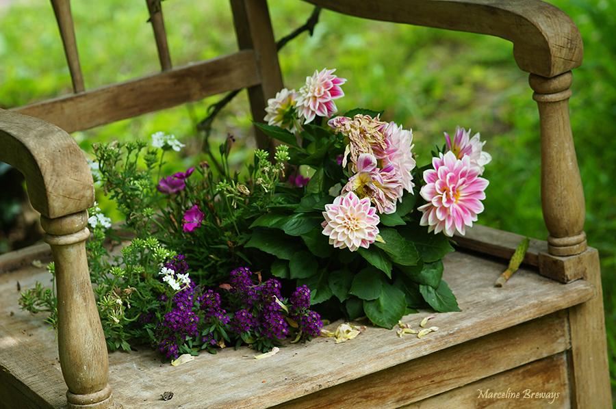 bouquet floral champêtre