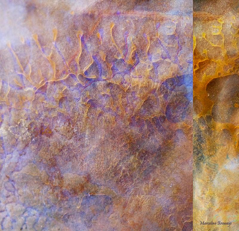 creation abstraite colorée