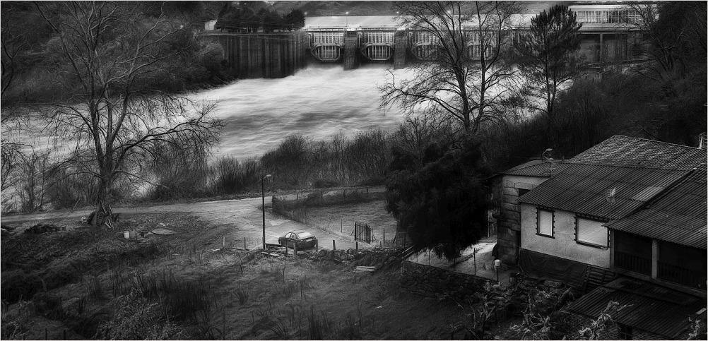 Encoro de Castrelo / Swamp in the river Miño