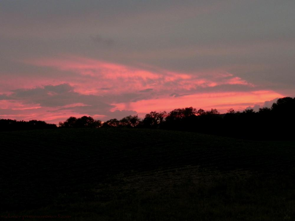 Sunset in ancramdale