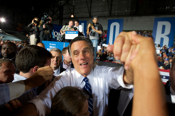 Mitt Romney with his hate group champaign