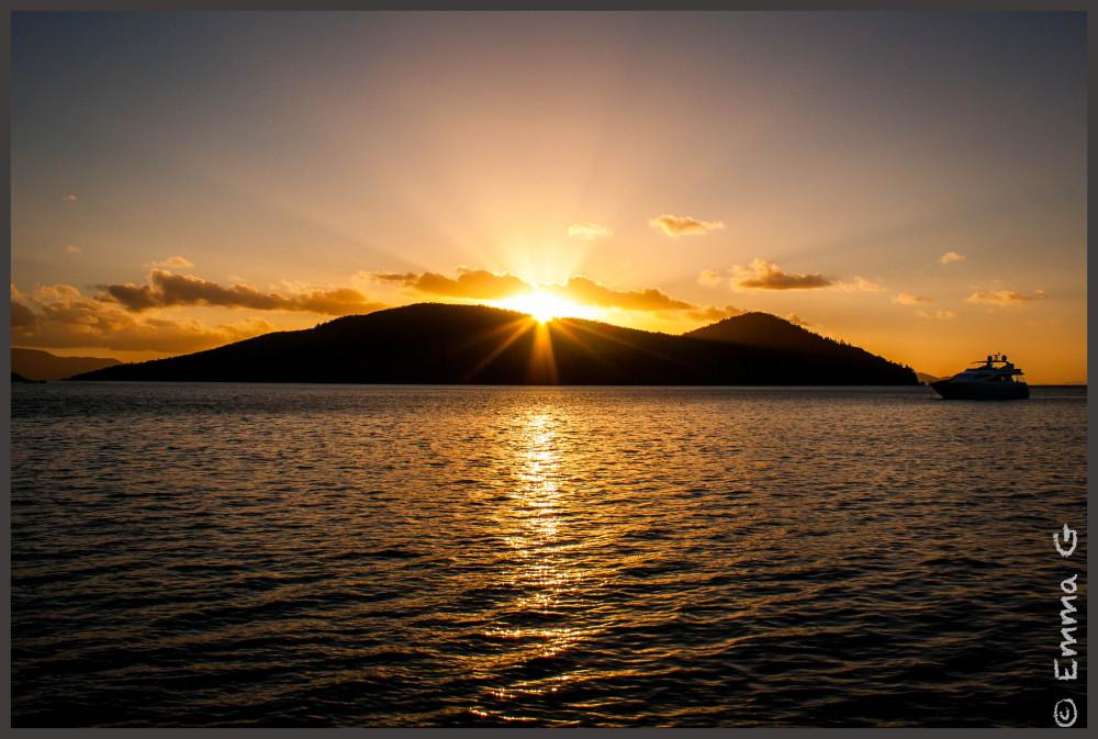Sunset in the Whitsundays