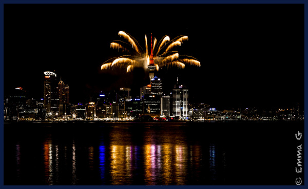 Auckland Sky Tower Fireworks