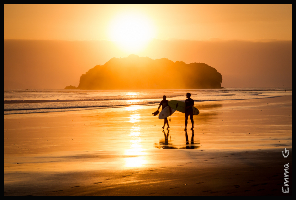 Surfers at Sunrise