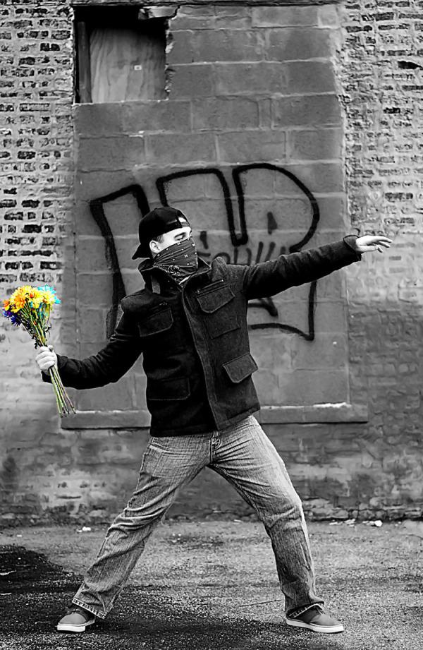 "Photo by Miles Daniel ""Flower Bomber"""