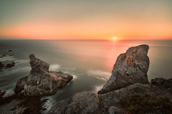 Sunset in Praia da Ursa, Sintra, Portugal