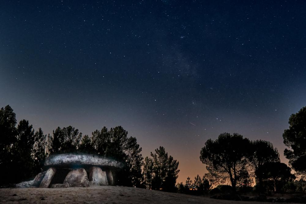 Dolmen da Orca in nighttime