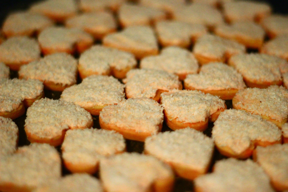 heart-shaped shortbread for St Valentine's Day