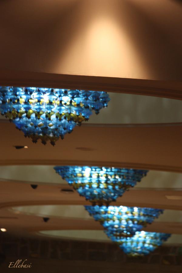 lumière, luminaire, plafonnier, bleu