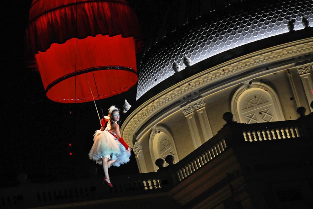 Umbrella Dance in the Air