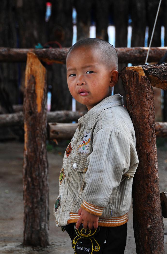 A Boy at Lashi Lake