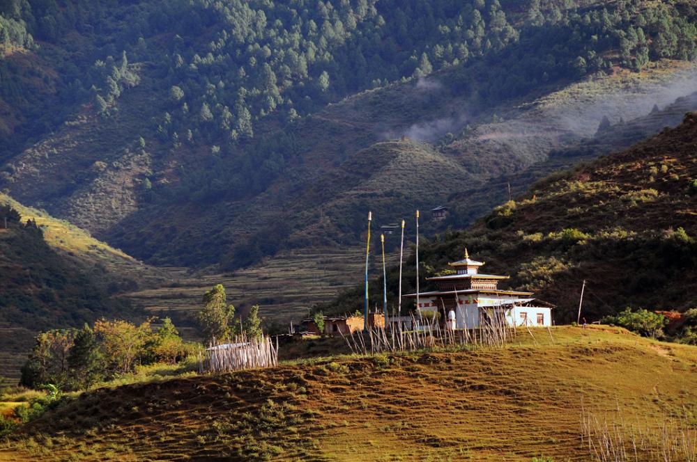 A Temple in Gantey (Bhutan)