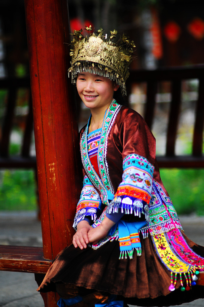 Girl of the Miao Ethnic Minority - Guangxi, China