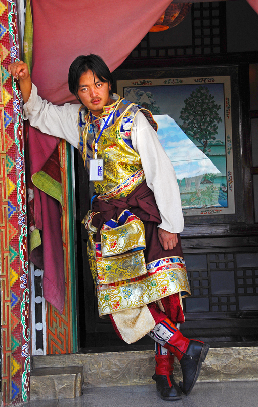 Tibetan portrait man dress