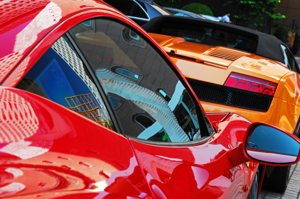 car Ferrari colours red