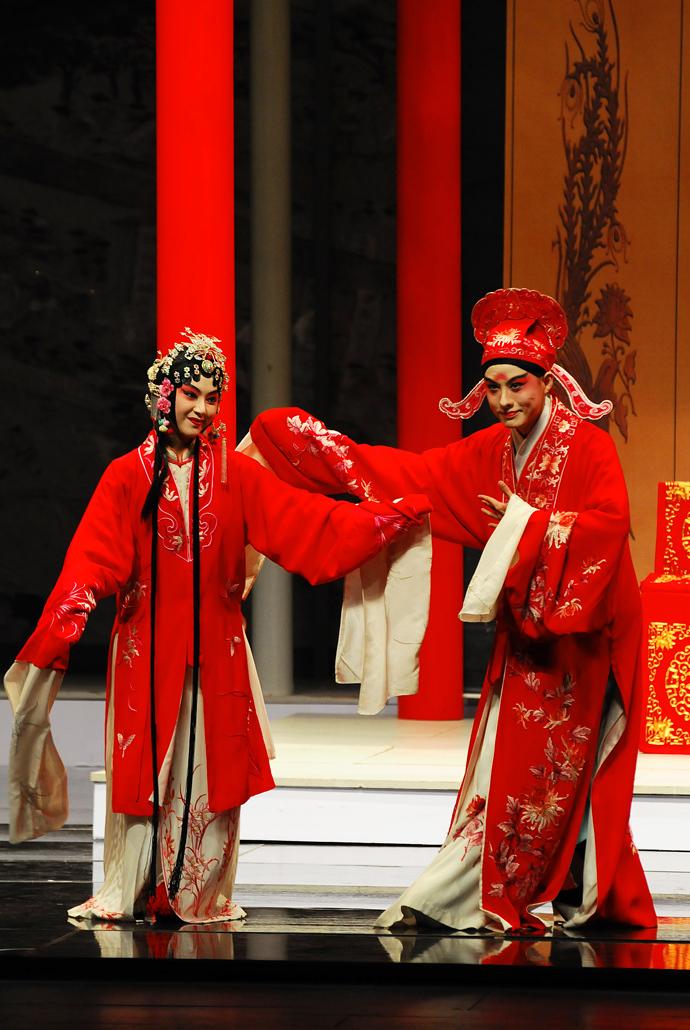 red opera wedding