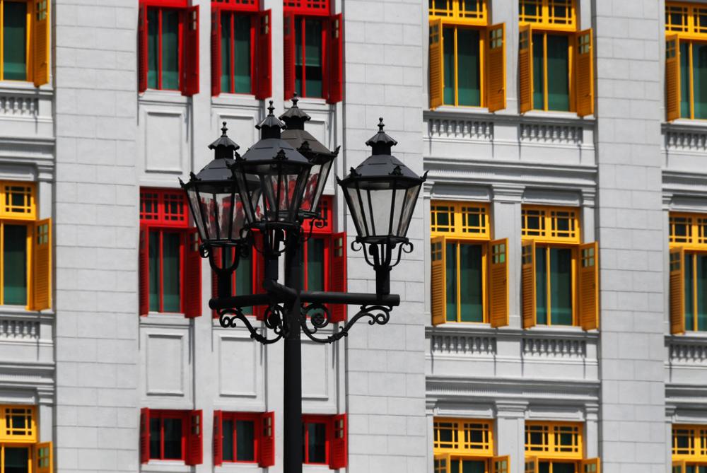 lamp lighting windows red yellow