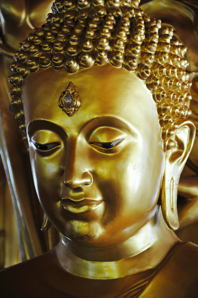 face Buddha sculpture