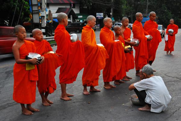 monks alms