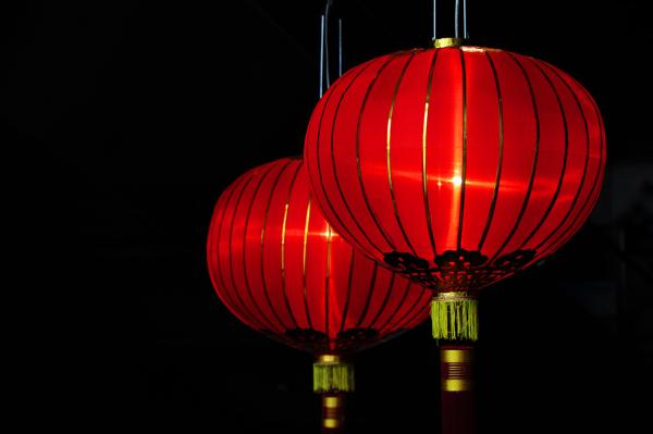 red lanterns New Year