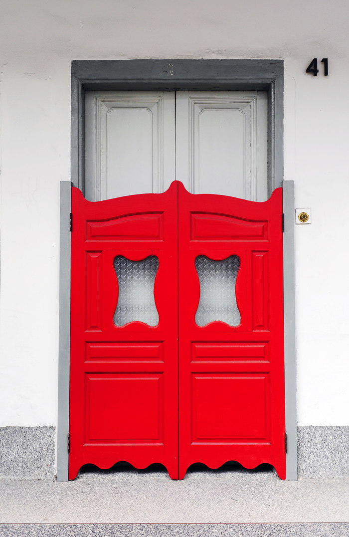 Red Swing Doors