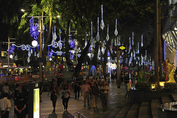 Christmas Lighting along Orchard Road, Singapore