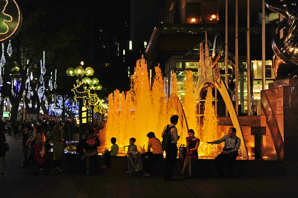 Fountain at Ngee Ann City