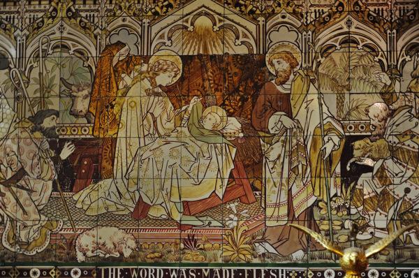 Nativity - Tiles at St Paul's at Knightsbridge