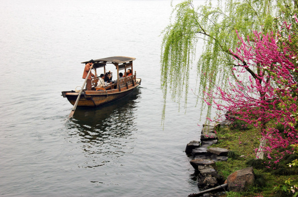 Boat in West Lake - Hangzhou
