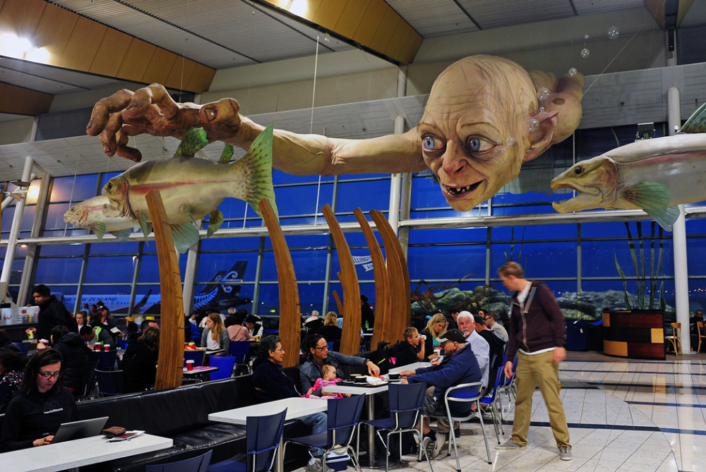 Gollum at Wellington Airport