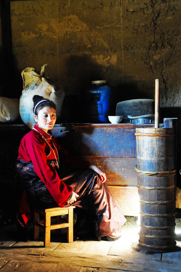 In the Kitchen of a Tibetan Home