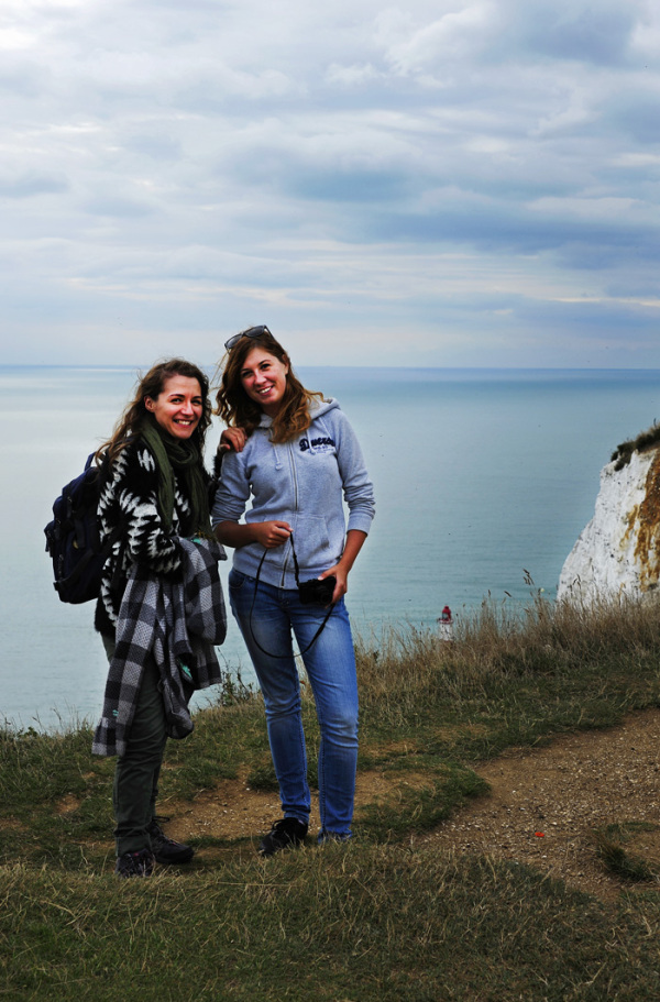 Two Girls at Beachy Head