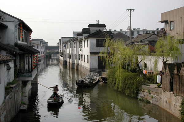 Boatman in Suzhou