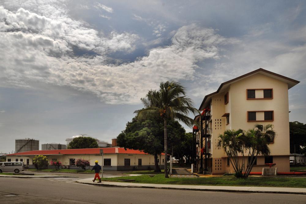 Houses on Bukom Island, Singapore