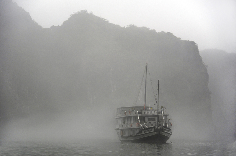 Emerging from Mist - Halong Bay